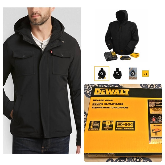 9f6c8eec74 DeWALT Lithium Ion Black Heated Jacket